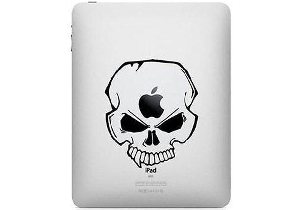 Envy skull iPad sticker