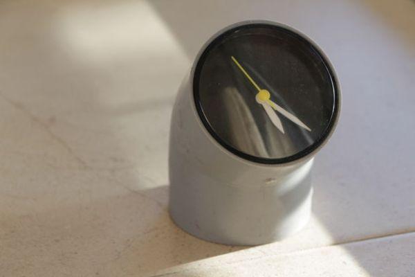 PVC pipe clock