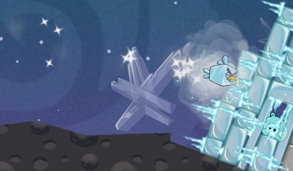 Angry Birds Space no Windows Phone.