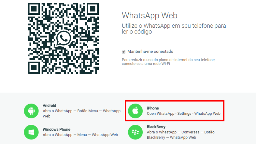 WhatsApp Web e iPhone