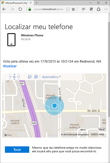 localizar meu telefone windows