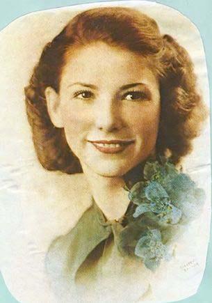 Paciente Rose Marie Bentley quando era jovem