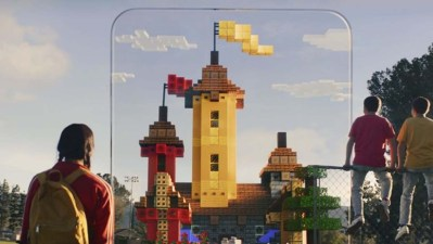 Material promocional do Minecraft Earth