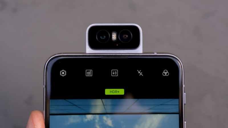 Detalhe da câmera do Asus Zenfone 6