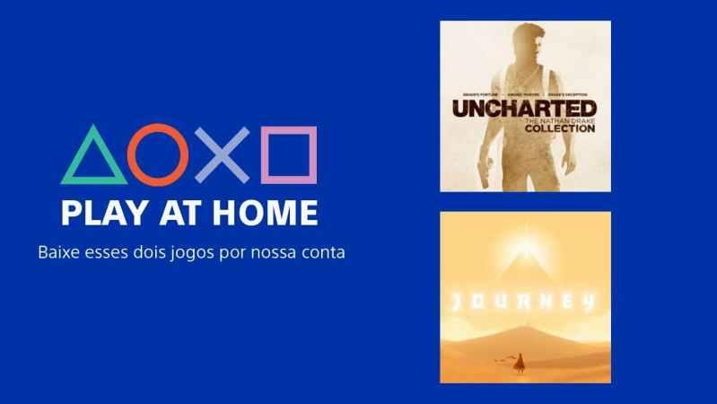 Banner da iniciativa Play at Home, da Sony