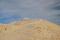 Looking across to the another sand dune to the right of the one we are hiking