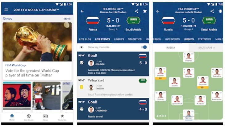 <strong>2018 FIFA World Cup Russia Official App</strong>