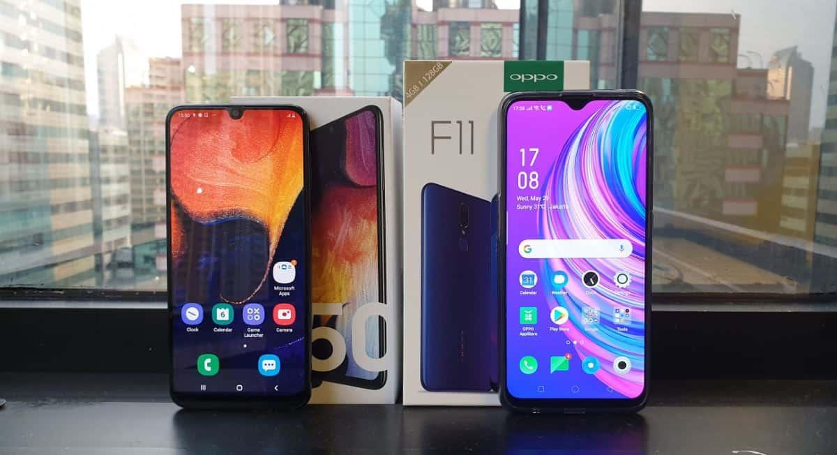OPPO F11 vs Samsung Galaxy A50: