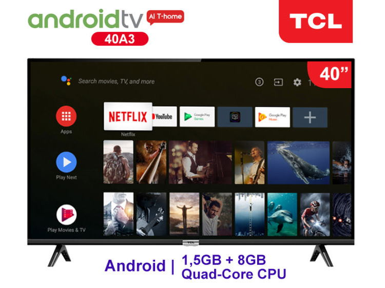 """TCL A3 40"""" Android TV"""
