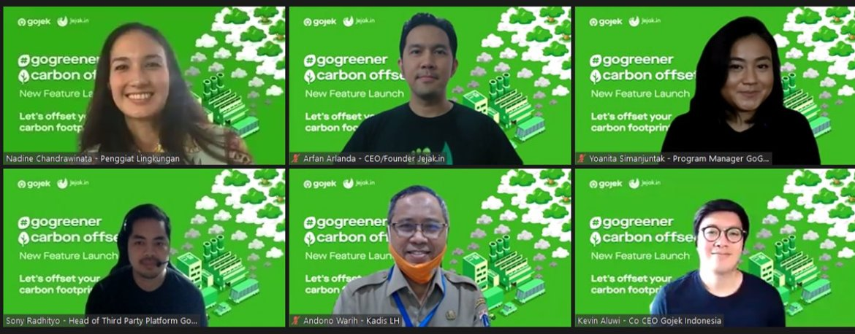 Gojek GoGreener Carbon Offset virtual press conference