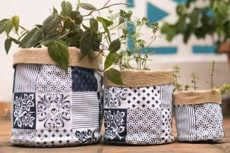 Yevvi White-Blue pattern