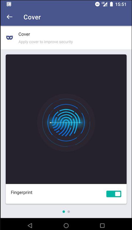 Fingerprint security cover