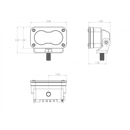 LED Light Pods Work/Scene Pattern Pair S2 Pro Series Baja