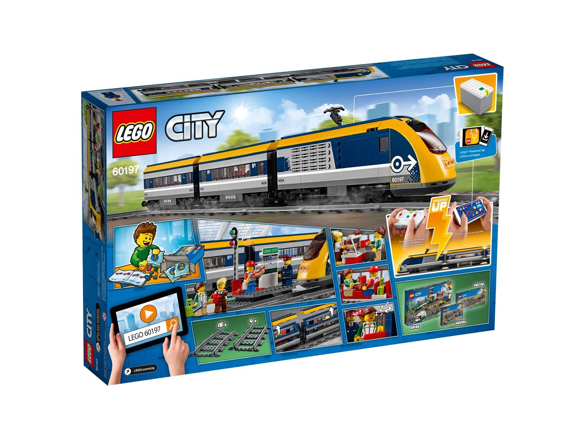 LEGO City Passenger Train 2018 (set 60197) box back