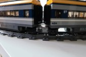 Dual LEGO City 2018 Passenger Trains Modified with Jacobs bogies Turning! 60197