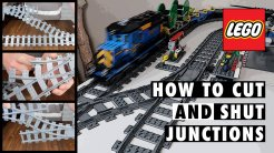 How to Cut and Shut LEGO City Train Junctions for Shorter Crossovers