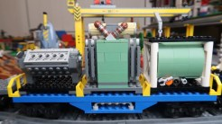 LEGO City Train Custom Cargo MOCs - Power Transformer Straight on