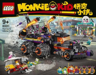 LEGO Monkie Kid Red Son's Inferno Truck 80011 - 1 Box Front