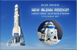 lego ideas 2020 news - Blue Origin New Glenn Rocket, Launch Tower & Blue Moon Lander - 1:110 Scale Set by Matthew Nolan & Whatsuptoday