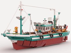 lego ideas 2020 news - The Great Fishing Boat by EdouardClo