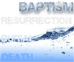 Water and blood both have a role to play in our salvation in Christ. We come into contact with His saving blood when we are baptized, immersed, in water.