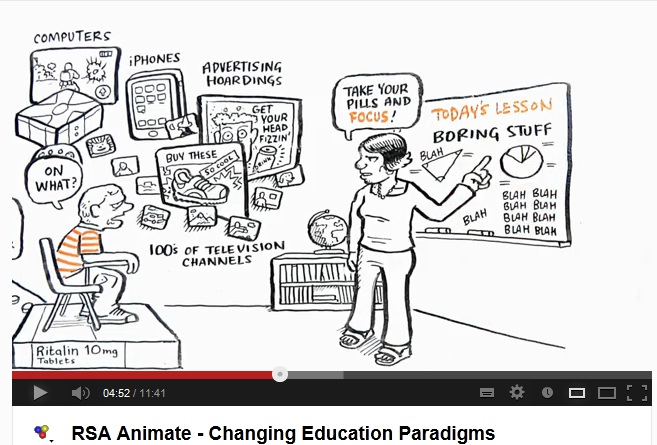 Sir Ken Robinson's TED animated talk about Changing