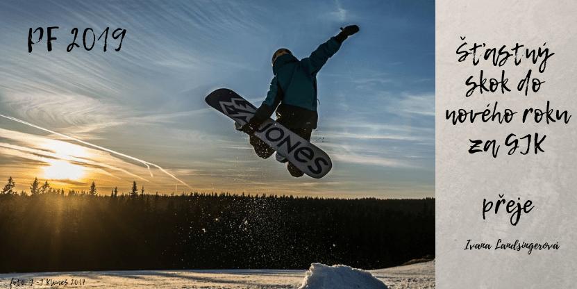 Šťastný skok do nového roku 2019! Foto: J. J. Klimeš