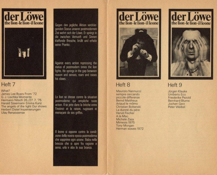 DER LÖWE NR.7-NR.9 1976