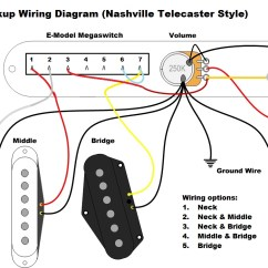 Strat Wiring Diagram Sss 2006 Jetta Three Pickup Great Installation Of 3 Guitar Diagrams Rh Casamario De Fender Nashville Telecaster