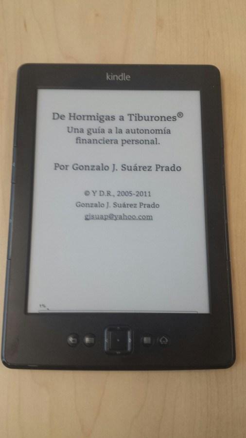 De Hormigas a Tiburones en el Kindle