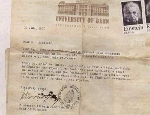 Einstein rechazado en Berna