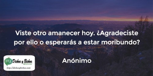 Amanecer - Anónimo