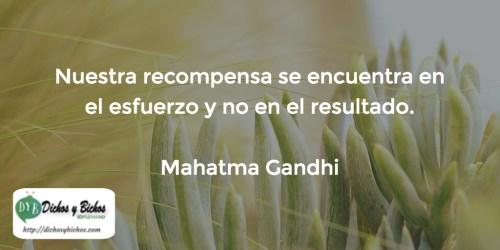 recompensa - Gandhi