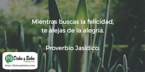 alegría - Proverbio Jasídico