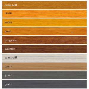 Joda-Color-Wetterschutzöl-Farbkarte