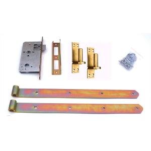 Tuerbeschlag-Standard-mit-E-Schloß-gelbverzinkt-11520