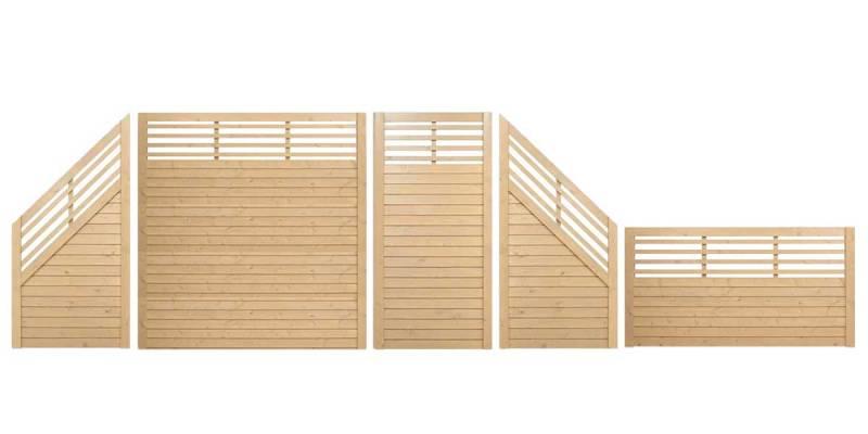 Zaunserie-Horizon-geschlossen-mit-Gitter-Sand-gestaltet
