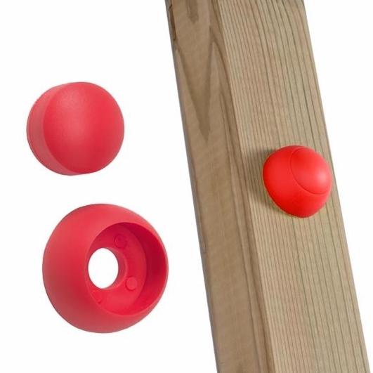 Schraubenabdeckung für Spielturm rot