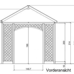 Gartenpavillon Fiesta ohne Stoffdach
