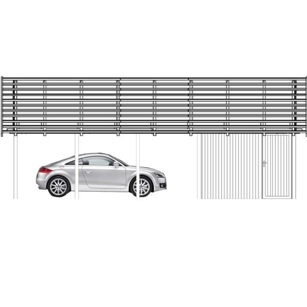 Carport Leipzig mit Geraeteraum Typ B