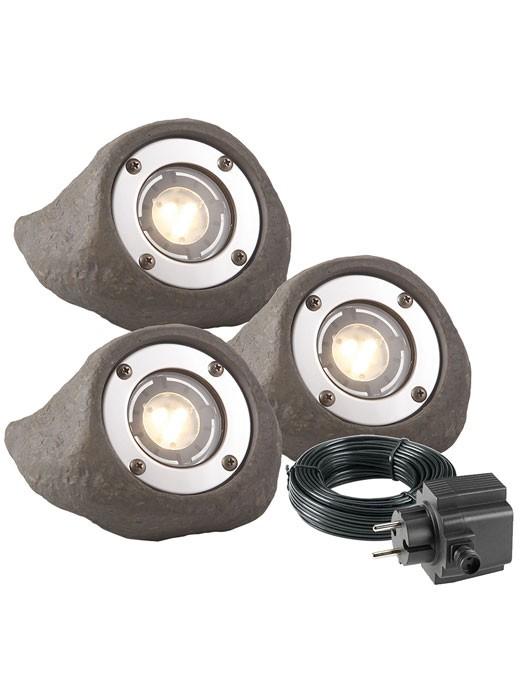 LED Strahler-Set Lapis in Steinoptik