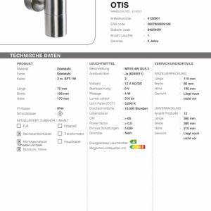 LED Wandleuchte Otis Technische Daten