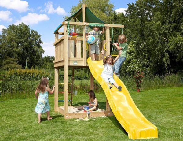 Spielturm Lodge mit Rutsche