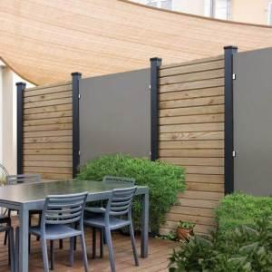 Sichtschutzlement Kingston - HPL Platten mit sibirischer Lärche