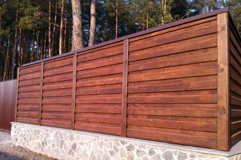 деревянное ограждение 3