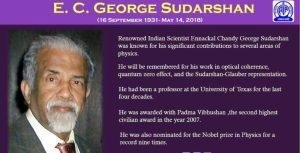 E.C. George Sudarshan-Scientist of India