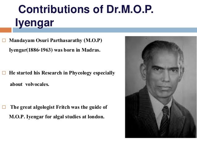 M.O.P. Iyengar-Scientist of India