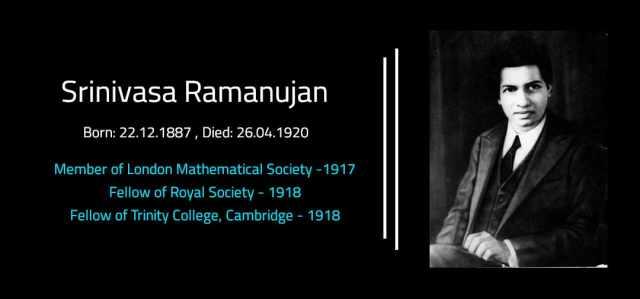 Srinivasa Ramanujan Aiyangar - Scientist of India