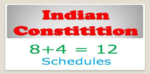 12 schedules of indian constitution