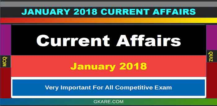 Current Affairs January 2018 [PDF] download